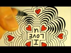 Optical Illusions - How to draw optical illusion LOVE flower - YouTube