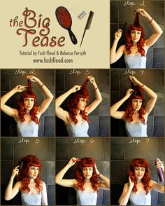 "With ""The Big Tease"", you'll learn how to transform flat hair into a luxurious, vintage-inspired confection. Enjoy!"