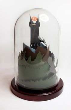 Lord of the Rings paper sculpture