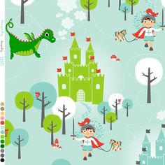Baby nursery ideas on pinterest knights dragon art and for Dragon fabric kids