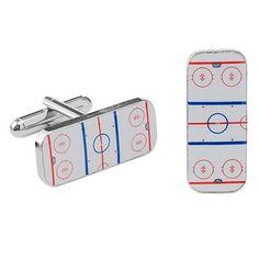 hockey cuff links