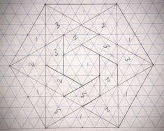 barn quilts, graph paper, hexagonspap piec, quilt patterns, pattern design