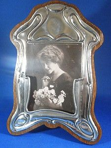 ART NOUVEAU STERLING SILVER PICTURE PHOTO FRAME OR BUSINESS CARD HOLDER 1906-7