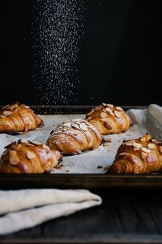 almond and raspberry croissants
