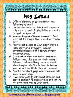 FREE Blogging Ideas