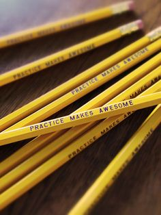Practice Makes Awesome Pencil Pack | Earmark Social