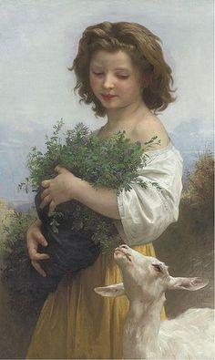 La Petite Esméralda  By: William Adolphe Bouguereau