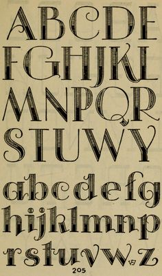decorative #alphabet | Studio handbook: lettering: over 250 pages, lettering, design and layouts, new alphabets (1960), Samuel Welo
