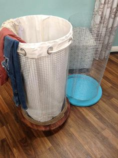 @lilyshop designs a chic hamper to collect your worn clothes! #hamper #laundry #homeandfamily #homeandfamilytv