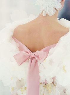 fashion, detail, style, dress, pink, chanel haut, bow, haut coutur, haute couture