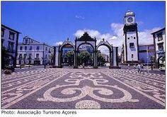 Ponta Delgada, 18th Century City Gates. Azores island (Portugal)