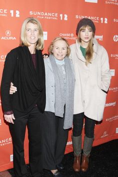 """Rory and Ethel Kennedy with Taylor Swift at the Documentary Premiere of """"Ethel"""" at the 2012 Sundance Film Festival. taylor swift, swift outfit, film fesitv, tay swift, sundanc film, film festival"""