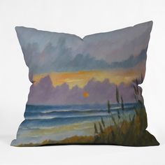 Rosie Brown Morning Has Broken Throw Pillow | DENY Designs Home Accessories   #pillow #throwpilow #homedecor #art #abstract #denydesigns