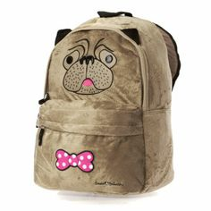 David And Goliath Plush Pug Backpack	 Brown US$46.74