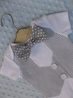 Baby Boy Bowtie Vest Onesie For a Handsome Baby by groovyapplique