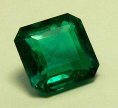 Beautiful Deep Rich Green Columbian Emeralds