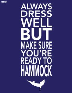 Always dress well, but make sure you're ready to hammock. #eno