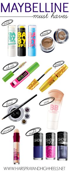 Best Maybelline Products via www.hairsprayandhighheels.com #beauty #bestofbeauty #maybelline @Maybelline New York New York New York New York #favoriteproducts