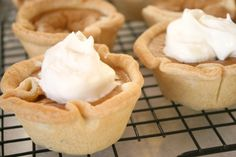 Mini pumpkin pies baked in muffin pan