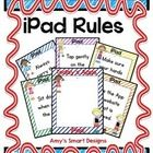 """Great posters to visually display iPad expectations to students.  Blank template to add more rules as a class if necessary.  Also a """"Today's Apps"""" ..."""