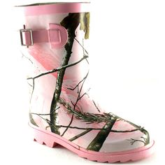Realtree Pink Camo Rain Boots for Girls