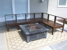 diy outdoor furniture #sectional #patio #furniture #wood