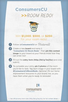 Win $1,000, $500, or $250 for your room redo! #ConsumersCURoomRedo