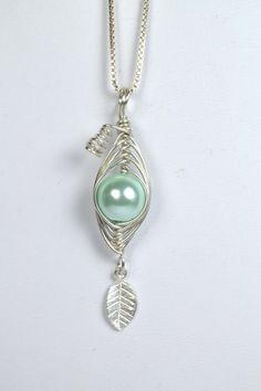 Sterling Silver Pea In A Pod Mint Pearl by RomanceinSilverAH,