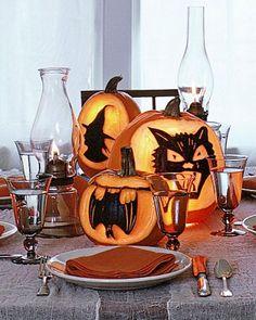 silhouette pumpkins