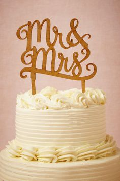 wedding cake toppers, anniversary, mrmrs, simple cakes, brides