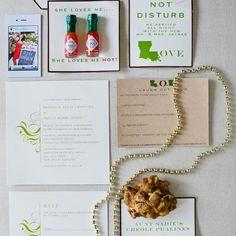 Louisiana themed wedding invitation suite   Heather Ann Design & Photography   Hodgepodge Design