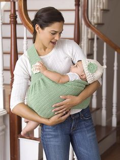 What a great gift for new moms! Crochet baby pouch!