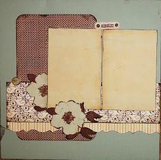 scrapbook layout using 6x6 pp