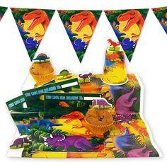 Sur la trace des dinos kit d co malin dinosaure party anniversaire enfan - Deco anniversaire enfant ...