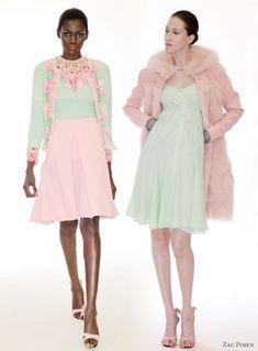 Mint + pink