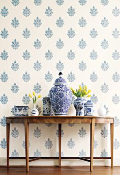 Schumacher - Distinctive Wallcoverings available through  Orient House