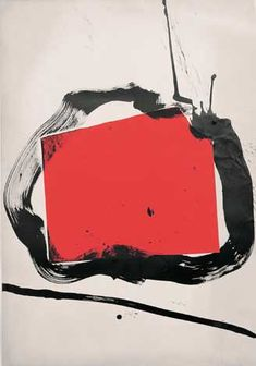Jean Miotte; abstract red and black