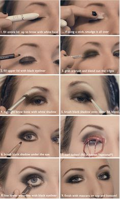 How To Do Black Smokey Eye Makeup