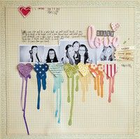 Love the dripping color!    A Project by Wilna from our Scrapbooking Gallery originally submitted 02/14/12 at 08:43 AM