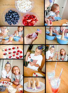 4th of July Ideas juli treat, firework, juli idea, craft everyth, bbq idea, kid friend, 4th of july, holiday idea, kid 4th