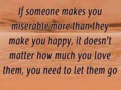 Let go of misery.... word of wisdom, remember this, quotes, inspir, happiness, letting go, people, lets go, true stories