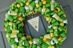frog wreath, frog idea, 2nd birthday, frogs, frog bday, blog, 1st birthdays, wreaths