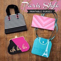 Paris Style Printable Purses
