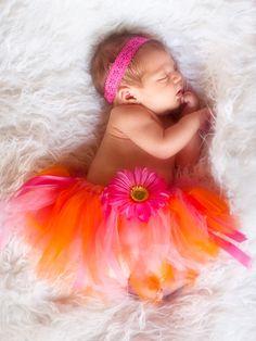 pink & orange tutu