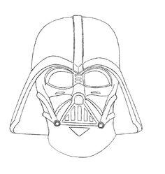 Vader mask outline drawing