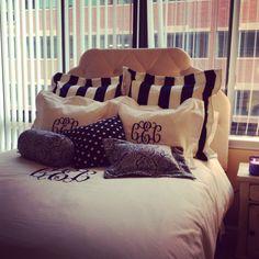 Monogram your dorm bedding