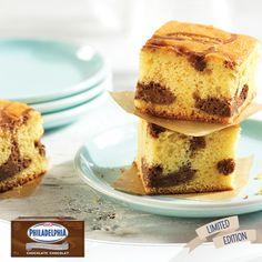Baking Tips for our NEW PHILADELPHIA Chocolate Brick Cream Cheese: Chocolate Cheesecake Blondies