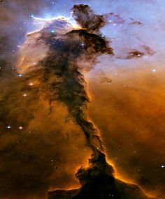 Mind Blowing Photographs of Space from Hubble Telescope - The Eagle Nebula with a tall, dense tower of gas being sculpted by ultraviolet light from a group of massive, hot stars. | #HubbleTelescope #Space #Science #SpacePhotos | See more pictures of space at: http://www.buzzfeed.com/gavon/44-mind-blowing-photos-from-the-hubble-telescope