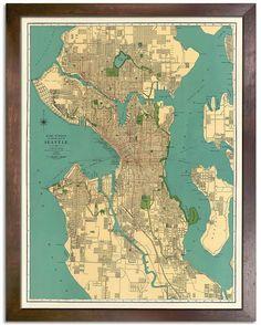 Vintage Seattle Map