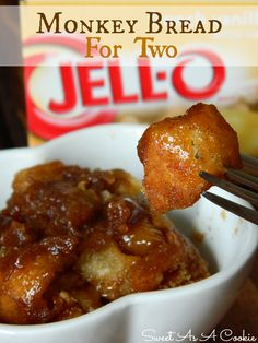 Monkey Bread For Two | from www.sweetasacookie #cinnamon #bread